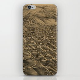 Vintage Pictorial Map of Butte Montana (1884) iPhone Skin