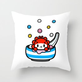 Winter Solstice - QiQi eating dumplings Throw Pillow