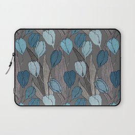 Tulip field on cacao brown Laptop Sleeve