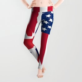 American and Union Jack Flag Leggings