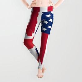 American and Union Jack Flag Leggings