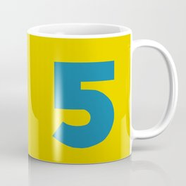Number 5 Coffee Mug