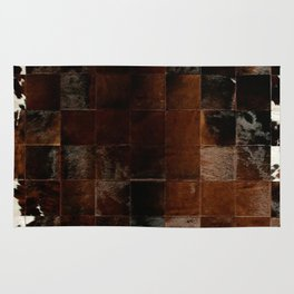 cowhide texture patchwork Rug