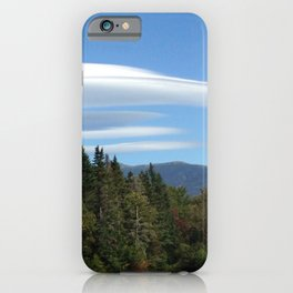 lenticular clouds in New Hampshire White Mountains iPhone Case