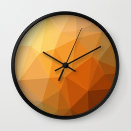 Shades Of Orange Triangle Abstract Wall Clock