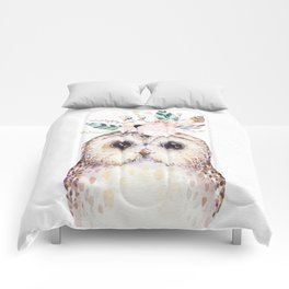 Forest Owl by Nature Magick Comforters