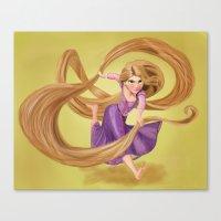 rapunzel Canvas Prints featuring Rapunzel by Valentina M.