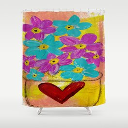BOWL OF FLOWERS Shower Curtain