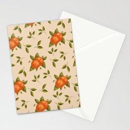 Orange Fruits with Leaves | Summer Fruit Stationery Cards