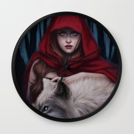 Blood to bear me flowers Wall Clock