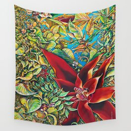 The Red Flower: Julie Northey Wall Tapestry