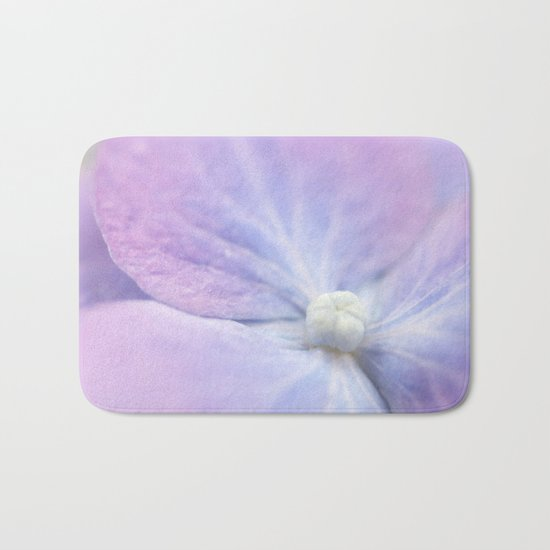 Blue and Purple Hydrangea Blossom Bath Mat