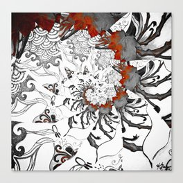 Earth Form Spiral Canvas Print