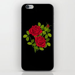 Painted Red Roses iPhone Skin