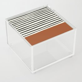 Burnt Orange x Stripes Acrylic Box