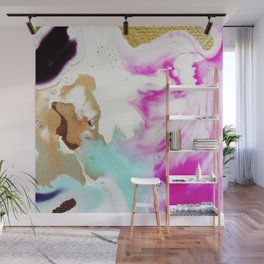 Happiness Ever Abstract Watercolor Painting Wall Mural