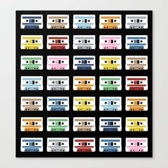 Rainbow Tapes Canvas Print