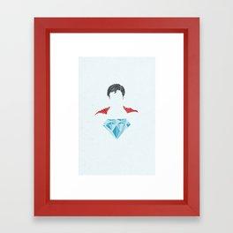 Man of Diamond Framed Art Print