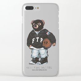 ftp bear Clear iPhone Case