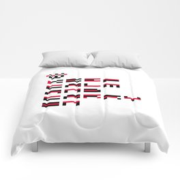 Pixel Keep Calm And Carry On Comforters