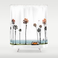 LA love  Shower Curtain
