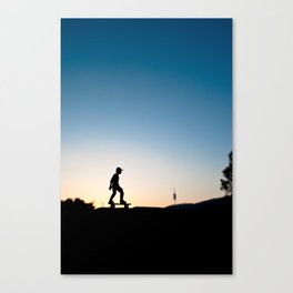 Skater in Barcelona Canvas Print