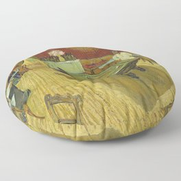 The Night Cafe by Vincent van Gogh Floor Pillow