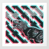trex Art Prints featuring trex by Mark Valkwitch