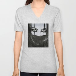 Harlequin woman Unisex V-Neck