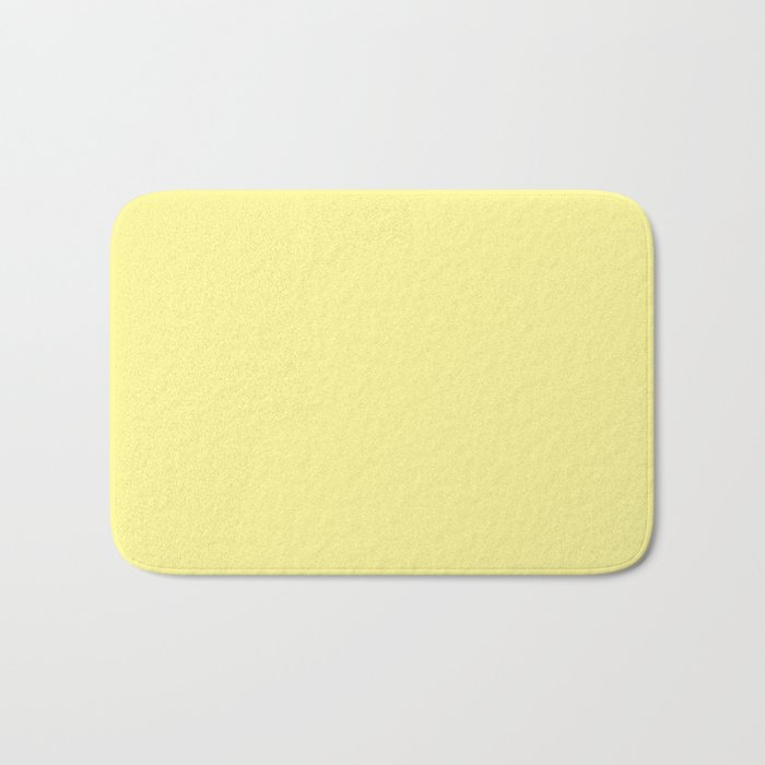 Simply Pastel Yellow Bath Mat