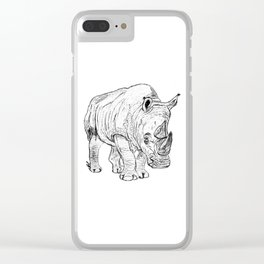 Rhinoceros Clear iPhone Case