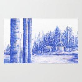 Blue Retreat Rug