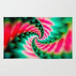Cosmic Watermelon Swirl Rug