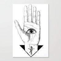hamsa Canvas Prints featuring Hamsa by -KP-