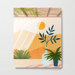 Sunset Desert Patio Metal Print