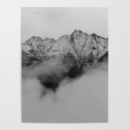 Mountains (Black and White) Poster