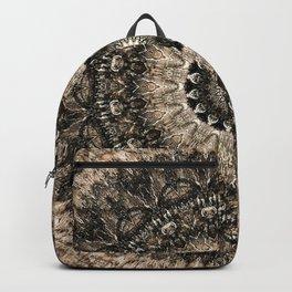 Dark Brown Boho Mandala Backpack