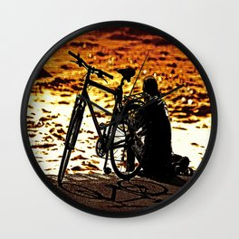 Chilling by the river Wall Clock