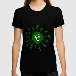 Evil Face Viral Infection Silhouette T-shirt