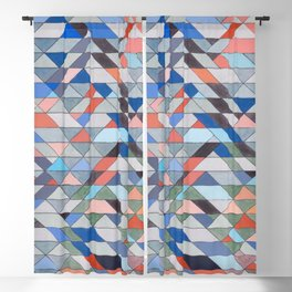 Triangle Pattern No. 7 Diagonals Blackout Curtain