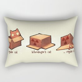 Schrödinger's cat Rectangular Pillow