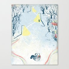Winter Cycling Canvas Print