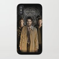 supernatural iPhone & iPod Cases featuring Supernatural by SB Art Productions