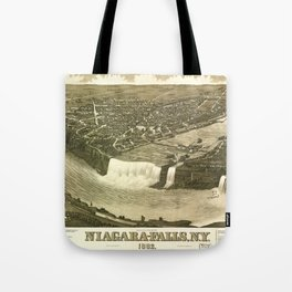 NIAGARA FALLS New-York city old map Father Day art print poster Tote Bag