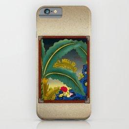 Minhwa: Plantain Garden at Night (Korean traditional/folk art) iPhone Case