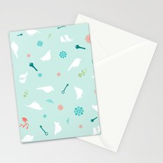 Birds in Silhouette on light blue Stationery Cards
