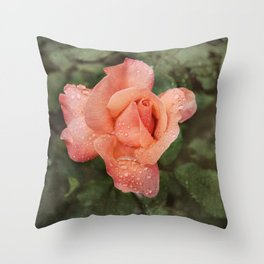 The Vintage Rose Throw Pillow