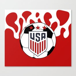 United States Soccer Canvas Print