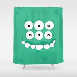 Psychos - Crazy Monsters (Turquoise) Shower Curtain