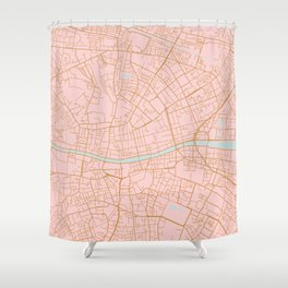 Dublin map, Ireland Shower Curtain